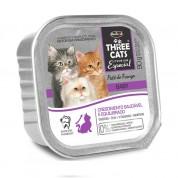 Alimento Úmido Three Cats Patê de Frango Gatos Baby 90g