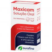 Anti-Inflamatório Maxicam Solução Oral Gatos e Cachorros 15ml