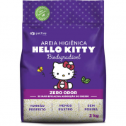 Areia Sanitária da Hello Kitty Roxa Bio Grossa 2kg