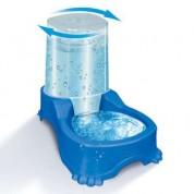 Bebedouro e Comedouro Automático Dupla Função Azul