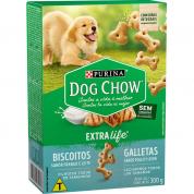 Imagem - Biscoitos Dog Chow Extralife Cachorros Filhotes Frango e Leite 300g
