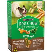 Biscoitos Dog Chow Extralife Duo Cachorros Adultos 500g