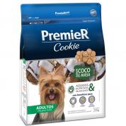 Biscoitos Premier Cookie Coco e Aveia Cachorros Adultos Raças Pequenas 250g