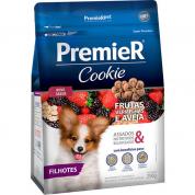 Biscoitos Premier Cookie Frutas Vermelhas e Aveia Cachorros Filhotes Raças Pequenas 250g