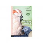 Bloco com Argila Pássaros Grandes Pombo Branco 110g
