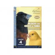 Bloco Osso de Siba Pássaros Pequenos Pombo Branco 4 unidades