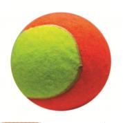 Bola de Tênis Bicolor Snack Show