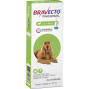 Bravecto Transdermal Antipulgas e Carrapatos Cachorros 10 a 20kg 500mg