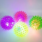 Brinquedo Bola com Luz Led Pisca-Pisca Spike Light Bom Amigo G
