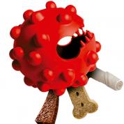 Brinquedo Bola Interativo Porta Petiscos Duraball Durapets Cachorros Raças Médias