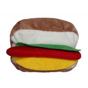 Brinquedo Hambúrguer Pelúcia Chalesco