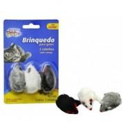 Imagem - Brinquedo Para Gatos 3 Ratinhos Com Catnip