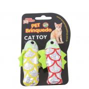 Brinquedo Peixinhos Brilhantes Gatos 2 Unidades Bom Amigo