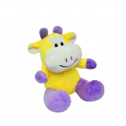Brinquedo Pelúcia Vaca Uniktoys Cães 18cm
