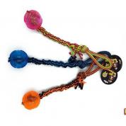 Brinquedo Puxador Bola com Corda Elástica Cachorros Bom Amigo
