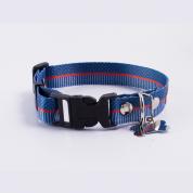 Coleira Prime Cachorros Marinheiro Azul e Vermelho P