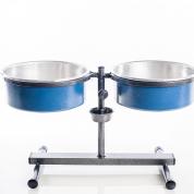 Comedouro e Bebedouro Premium Anti-Formiga Médio Azul