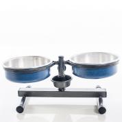 Comedouro e Bebedouro Premium Anti-Formiga Mini Azul