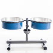 Comedouro e Bebedouro Premium Anti-Formiga Pequeno Azul