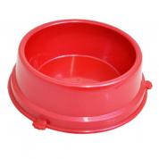 Comedouro Perolizado Vermelho Cachorros Médio 1,7L