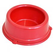 Comedouro Perolizado Vermelho Pequeno Cachorros Filhotes 300ml