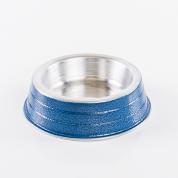 Comedouro Pesado Alumínio Azul Filhote 150ml