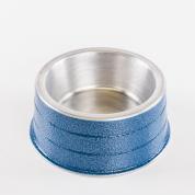 Comedouro Pesado Alumínio Azul Mini 300ml