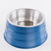 Comedouro Pesado Alumínio Cocker Azul