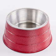 Comedouro Pesado Alumínio Cocker Vermelho