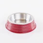 Comedouro Pesado Alumínio Vermelho Filhote 150ml