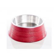 Comedouro Pesado Alumínio Vermelho Grande 1,75 litros