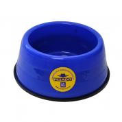 Comedouro Pesado Azul Mr Pet Grande