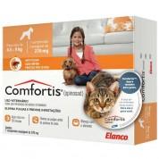 Comfortis Antipulgas Cães de 4,5 a 9 Kg e Gatos de 2,8 a 5,4 Kg 270mg