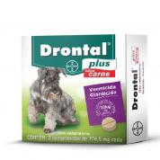 Imagem - Drontal Plus Cachorros até 10kg Carne c/ 2 comprimidos