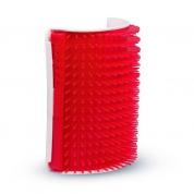 Escova Massageadora de Parede Coçadinha Truqys Pet Vermelha