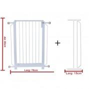Grade Portão(70cm) + Extensor(15cm) de Proteção Para Cães e Crianças