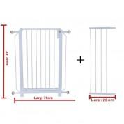 Grade Portão (70cm) + Extensor (20cm) de Proteção Para Cães e Crianças