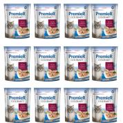 Kit 12 Alimento Úmido Sachê Premier Gourmet Atum e Arroz Integral Gatos Adultos