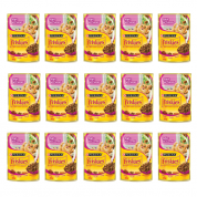 Kit 15 Alimento Úmido Sachê Friskies Mix de Carnes Gatos