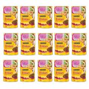 Kit 15 Alimento Úmido Sachê Friskies Mix de Carnes Gatos