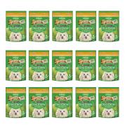 Kit 15 Sachê Dog Chow Extralife Cachorros Adultos Raças Pequenas e Mini Frango 100g