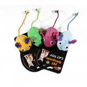 Kit 2 Brinquedos Ratinho com Guizo Gatos Bom Amigo