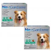 Kit 2 NexGard Antipulgas e Carrapatos Cães 10,1 a 25kg