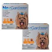 Kit 2 NexGard Antipulgas e Carrapatos Cães 2 a 4kg
