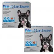Kit 2 NexGard Antipulgas e Carrapatos Cães 4,1 a 10kg
