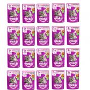 Imagem - Kit 20 Alimento Úmido Whiskas Sachê Gatos Adultos Salmão ao Molho