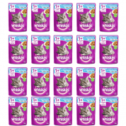 Kit 20 Alimento Úmido Whiskas Sachê Gatos Castrados Peixe ao Molho