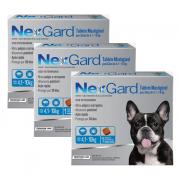 Kit 3 NexGard Antipulgas e Carrapatos Cães 4,1 a 10kg