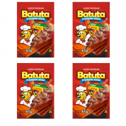 Kit 4 Bifinho Batuta Cachorros Carne 65g