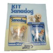Kit Sanadog Shampoo e Condicionador para Cachorros